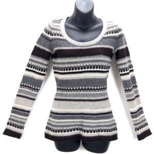 C. Cashmere 2 Ply Striped Cashmere Sweater Sz XS